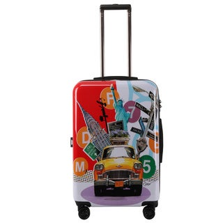 Triforce Francisco Ceron Pop Art New York 26-inch Hardside Spinner Upright Suitcase