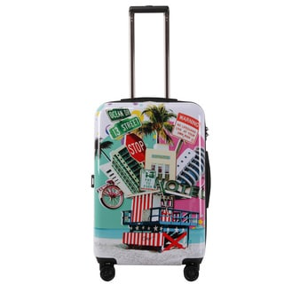 Triforce Francisco Ceron Pop Art South Beach 26-inch Hardside Spinner Upright Suitcase