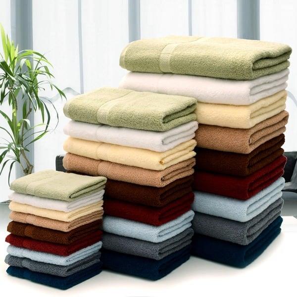 Shop Cheer Collection Super Soft Absorbent Solid Color Bath Towels