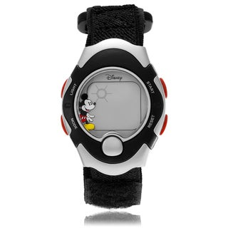 Disney Mickey Mouse Digital Hook and Loop Strap Watch