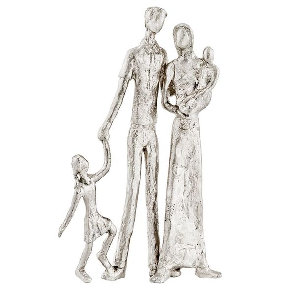 Familia Posando Silver Posing Family