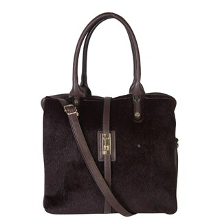 Rimen and Co. Womens Faux Leather Triple Compartments Zipper Closure Handbag