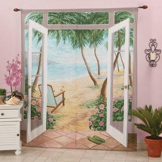 Island Breeze Window Art Curtain Panel Pair