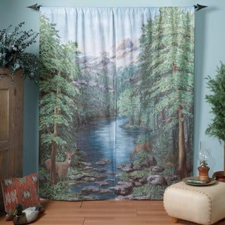 Woodland Crossing Window Art Curtain Panel Pair