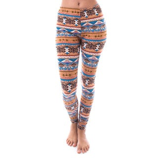 Soho Apparel Women's Tribal Brushed Stretch Fit Leggings