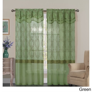VCNY Everwood Embroidered Sheer Curtain Panel