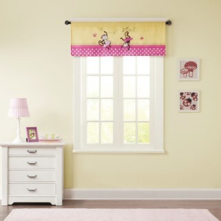 Mi Zone Kids Monkey Madness Yellow Printed and Applique Valance with Plush Mink Textured/ Border Design/ Rod Pocket Finish