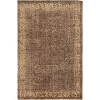 ecarpetgallery Anatolian Sunwash Brown Wool Rug (6'9 x 10'2)