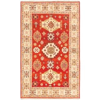ecarpetgallery Royal Kazak Brown Wool Rug (6'4 x 10'3)