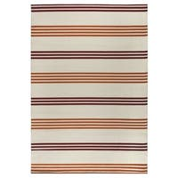 "Rizzy Home Glendale Collection Power-loomed Ivory Stripe Accent Rug - 3'3"" x 5'3"""
