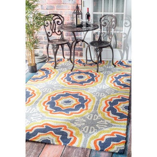nuLOOM Handmade Spanish Tiles Indoor/ Outdoor Multi Porch Rug (4' x 6')