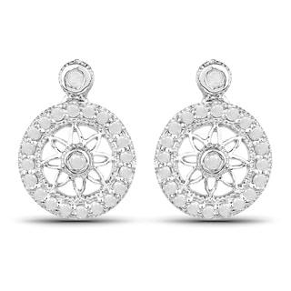 Olivia Leone Sterling Silver 3/4ct TDW Diamond Drop Earrings (I-J, I2-I3)