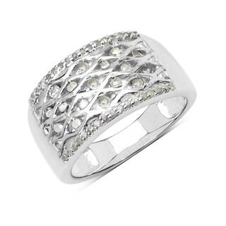 Olivia Leone Sterling Silver 2/5ct TDW White Diamond Ring (I-J, I2-I3)