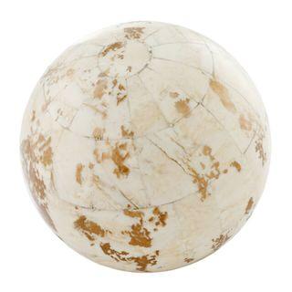 Hueso Blanco Golden Bone Sphere