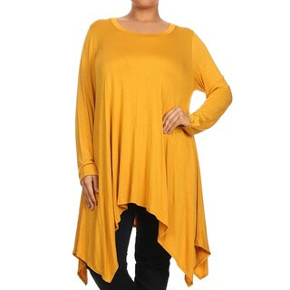 MOA Collection Plus Size Women's Long Sleeve Tunic