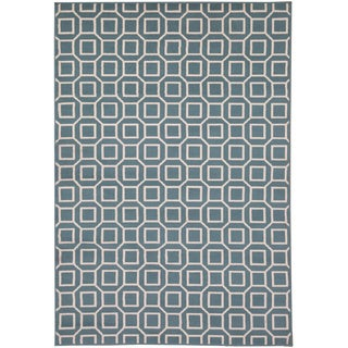 Rizzy Home Glendale Collection Power-loomed Geometric Area Rug (7'10' x 10'10)
