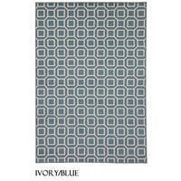 "Rizzy Home Glendale Collection Power-loomed Geometric Accent Rug - 3'3"" x 5'3"""