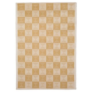 """Rizzy Home Glendale Collection Power-loomed Ivory Checkered Accent Rug - 3'3"""" x 5'3"""""""