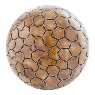 Pentagono Etched Bone Sphere