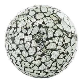 Crepita Silver Glass Sphere