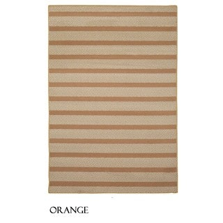 Rizzy Home Glendale Collection Power-loomed Striped Accent Rug (3'3 x 5'3) - 3'3 x 5'3