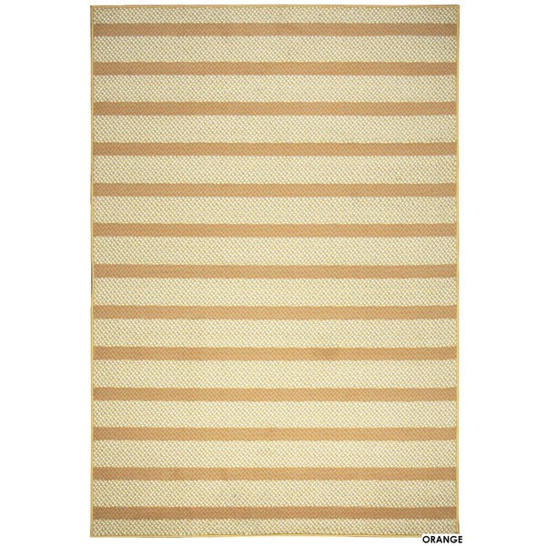 """Rizzy Home Glendale Collection Power-loomed Striped Accent Rug - 3'3"""" x 5'3"""""""
