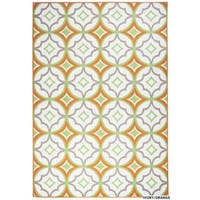 "Rizzy Home Glendale Collection Power-loomed Ivory Patterned Geometric Accent Rug - 3'3"" x 5'3"""