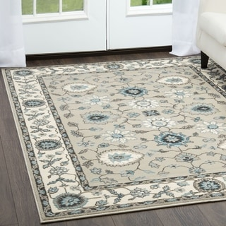 Home Dynamix Oxford Collection Traditional (7'10 x 10'2) Machine Made Polypropylene Area Rug