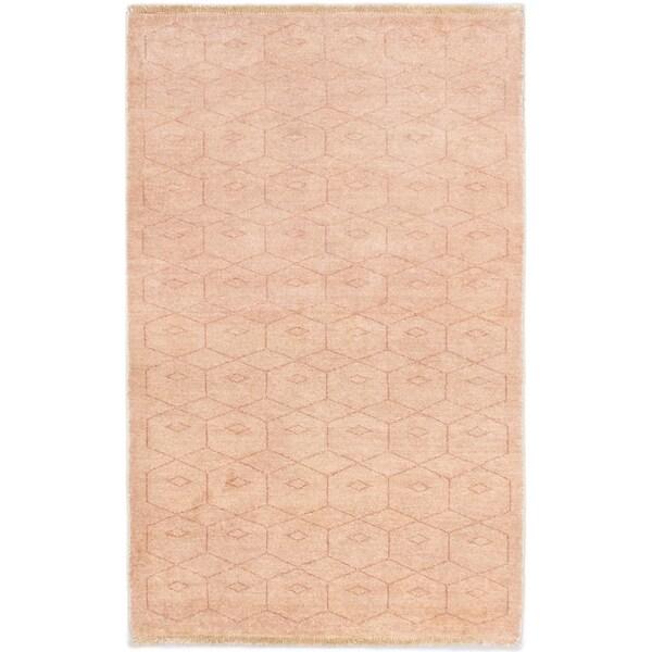 ecarpetgallery Peshawar Ziegler Beige Wool Rug (3'1 x 5'0)