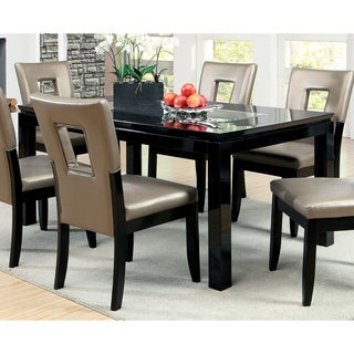 Strick & Bolton Tosa Mirror Insert Black Dining Table