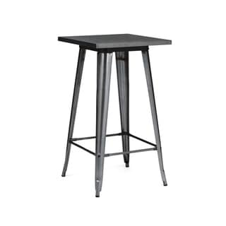 Amalfi Dark Gunmetal Steel Bar Table 42 Inch