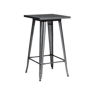 Amalfi Dark Gunmetal Steel Bar Table
