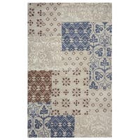 Rizzy Home Palmer Collection Multicolored Color Block Area Rug (8' x 10')