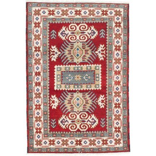 ecarpetgallery Royal Kazak Red Wool Rug (4'0 x 5'11)