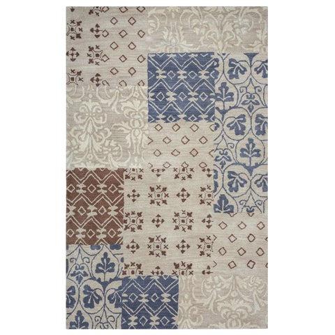 Rizzy Home Palmer Collection Multicolored Patchwork Area Rug - Multi - 9' x 12'