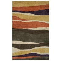 Rizzy Home Pandora Collection Multicolored Stripes Accent Rug - 3' x 5'