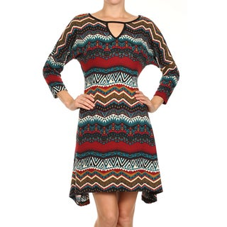 MOA Collection Women's Geometric Shift Dress