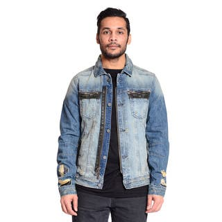Excelled Men's Cotton Denim Jacket with a Distressed Twist|https://ak1.ostkcdn.com/images/products/11131304/P18131652.jpg?impolicy=medium