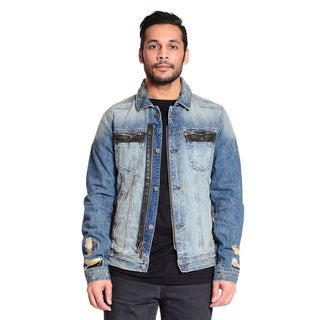 Excelled Men's Cotton Denim Jacket with a Distressed Twist
