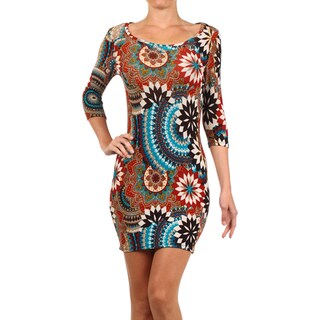 MOA Collection Women's Bodycon Mini Dress