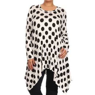 MOA Collection Plus Size Women's Polka-dot Tunic|https://ak1.ostkcdn.com/images/products/11131311/P18131702.jpg?impolicy=medium