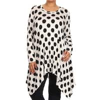 MOA Collection Plus Size Women's Polka-dot Tunic
