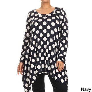 MOA Collection Plus Size Women's Polka-dot Tunic (More options available)