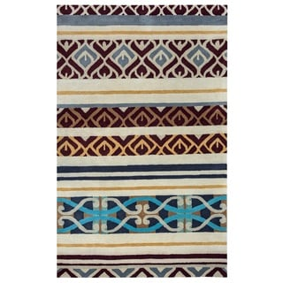 Rizzy Home Pandora Collection Multicolored Abstract Area Rug (8' x 10') - Multi-color - 8' x 10'