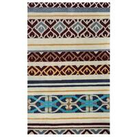 Rizzy Home Pandora Collection Multicolored Abstract Area Rug - 9' x 12'