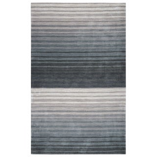 Rizzy Home Platoon Collection Grey Stripes Accent Rug (3' x 5')