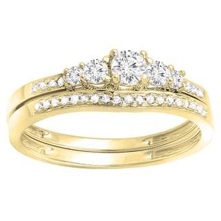 14k Gold 1/2ct TDW Round Diamond 5-stone Bridal Engagement Ring (H-I, I1-I2)