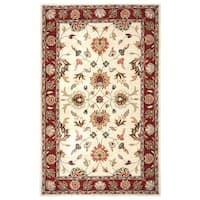 Rizzy Home Valintino Collection Beige/ Rust Area Rug (8' x 10') - 8' x 10'