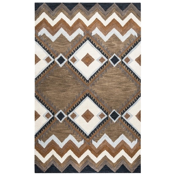 Pueblo Collection TL9147 Area Rug (8' x 10') - 8' x 10'