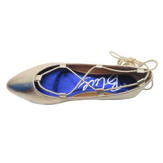 Blue Women's 'Sutton' Ankle Lace Pointy Flats